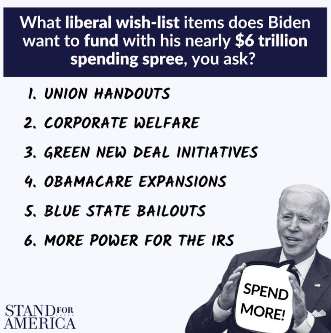 Stand For America graphic: $6 trillion Biden graphic